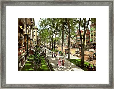 City - Saratoga Ny -  I Would Love To Be On Broadway 1915 Framed Print by Mike Savad