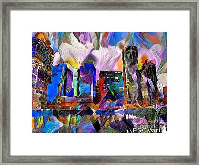 City Scape 2 Boston Framed Print