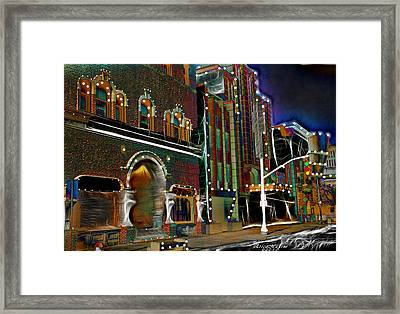 Framed Print featuring the photograph City Scene by EricaMaxine  Price