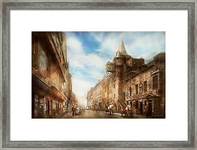 Framed Print featuring the photograph City - Scotland - Tolbooth Operator 1865 by Mike Savad