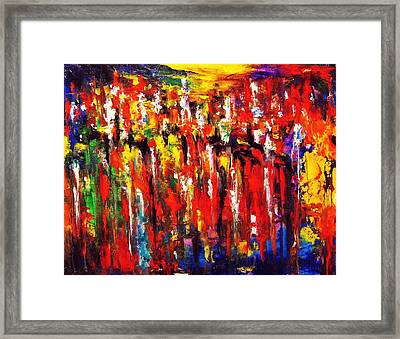 City. Series Colorscapes. Framed Print