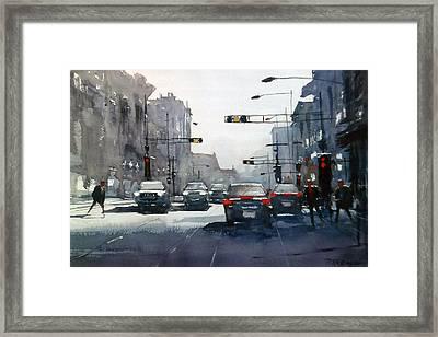 City Shadows 2 Framed Print
