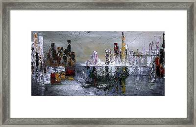 City Shimmers Framed Print by Germaine Fine Art