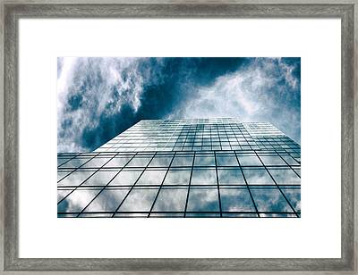 Framed Print featuring the photograph City Sky Light by Jessica Jenney