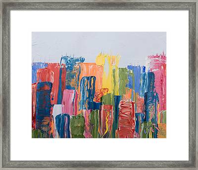 City Skyline 1 Framed Print by Brad Rickerby