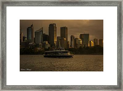 City Skyline  Framed Print by Andrew Matwijec