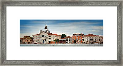 Framed Print featuring the photograph City Skyline Of Venice Panorama by Songquan Deng