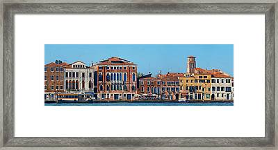 Framed Print featuring the photograph City Skyline Of Venice by Songquan Deng
