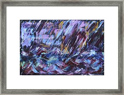 City Storm Abstract Framed Print