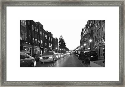 City Streets Framed Print