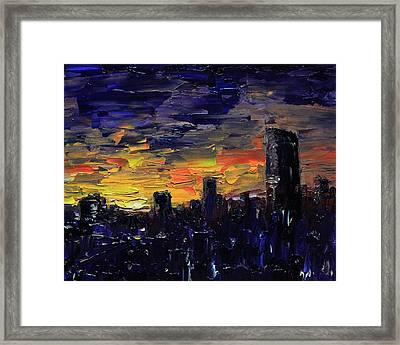 City Sunset Framed Print