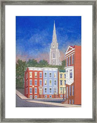 City Sunset Framed Print by David Hinchen