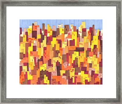 City Sunset Framed Print by Jason Messinger
