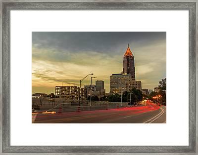 City Sunset Framed Print