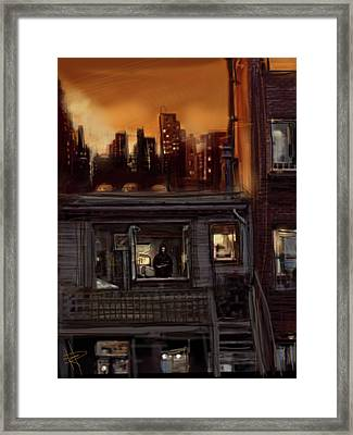 City Sunset Framed Print by Russell Pierce