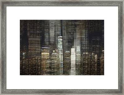 City Tetris Framed Print