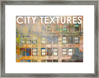 City Textures Windows Framed Print