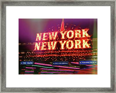 City That Never Sleeps Framed Print by JAMART Photography