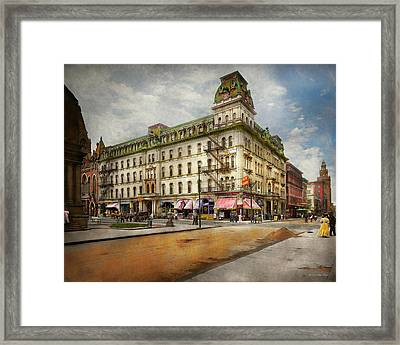 Framed Print featuring the photograph City - Toledo Oh - Got A Boody Call 1910 by Mike Savad