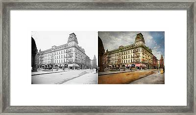 Framed Print featuring the photograph City - Toledo Oh - Got A Boody Call 1910 - Side By Side by Mike Savad