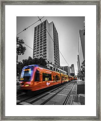 City Train Framed Print