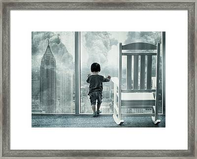 City Under Guard Framed Print by Dimas Awang