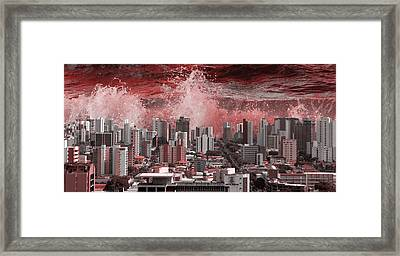 City Under Water Framed Print by LoungeMode Production