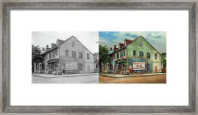 City- Va - C And G Grocery Store 1927 - Side By Side Framed Print by Mike Savad