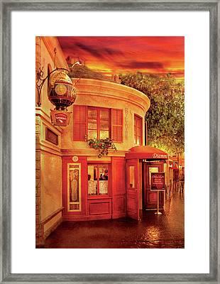 City - Vegas - Paris - Vins Detable Framed Print by Mike Savad