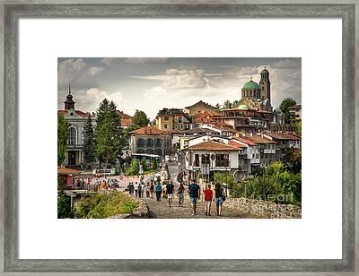 City - Veliko Tarnovo Bulgaria Europe Framed Print