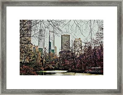 City View From Park Framed Print