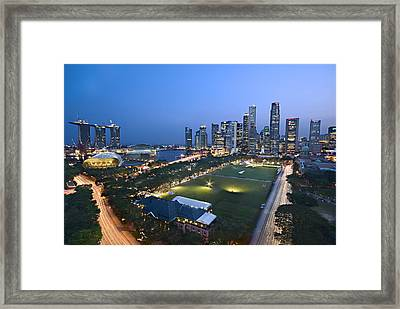 City View Of Singapore Framed Print by Ng Hock How
