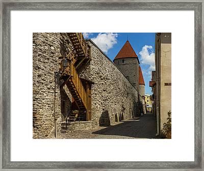City Wall Framed Print