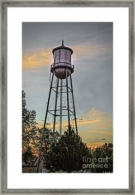 City Water Tower Framed Print