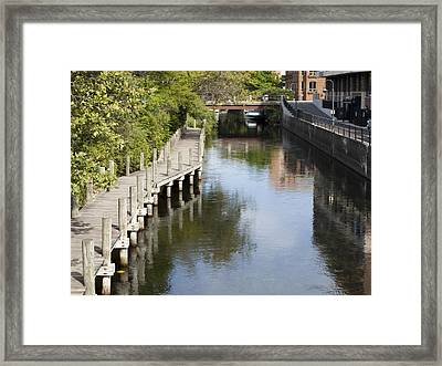 City Waterway Framed Print by Tara Lynn