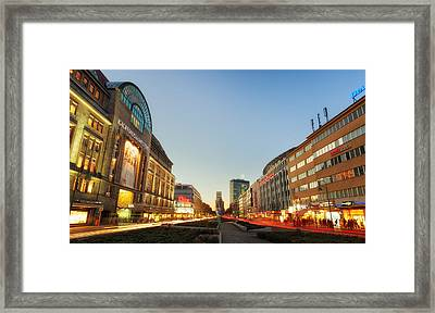 City West - Berlin Framed Print by Nico Trinkhaus