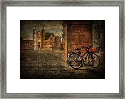 City Wheels Framed Print by Evelina Kremsdorf