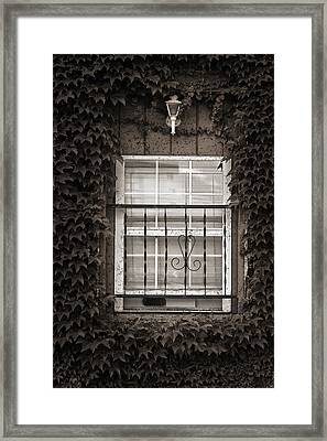 City Window Detail Framed Print