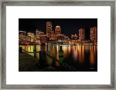 City With A Soul- Boston Harbor Framed Print