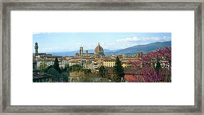 City With Florence Cathedral Framed Print