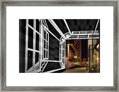 Framed Print featuring the photograph Citycenter Gateway - Washington by Stuart Litoff