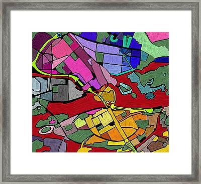 Cityplan#2 Framed Print