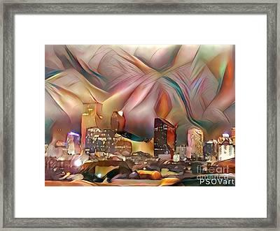 Cityscape 1 New Orleans Framed Print