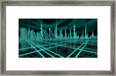 Cityscape 2010 Alpha Framed Print by James Christopher Hill