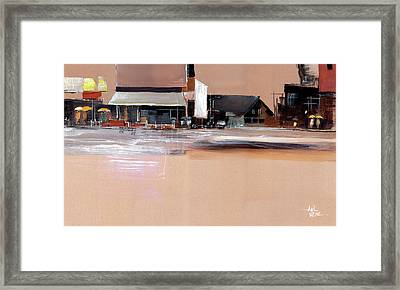 Framed Print featuring the painting Cityscape 3 by Anil Nene