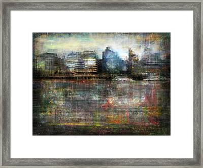 Framed Print featuring the photograph Cityscape #33. Silent Windows by Alfredo Gonzalez