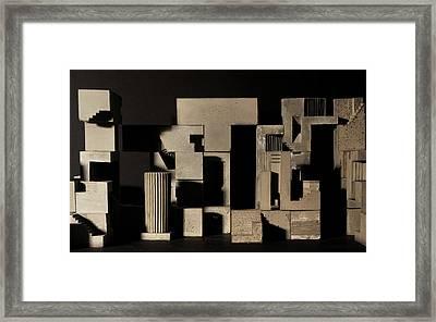 Cityscape 9 Framed Print by David Umemoto