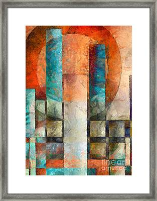 Cityscape Abstract Vertical Framed Print