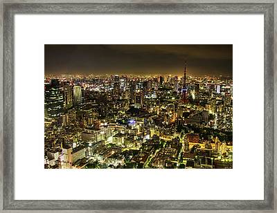 Cityscape At Night Framed Print by Agustin Rafael C. Reyes
