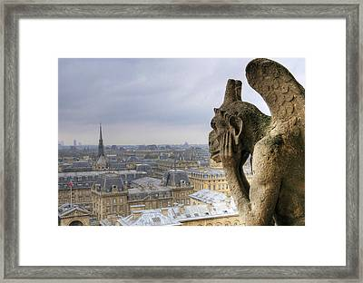 Cityscape From Notre Dame, Paris Framed Print by Zens photo